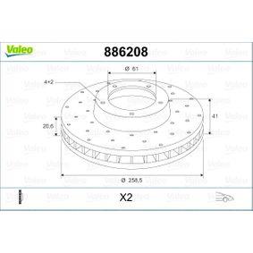 Bremsscheibe Bremsscheibendicke: 20,6mm, Felge: 4-loch, Ø: 258,5mm mit OEM-Nummer 4020600Q0K