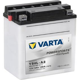 VARTA POWERSPORTS 509016008A514 Starterbatterie Länge: 135mm, Breite: 75mm, Höhe: 139mm