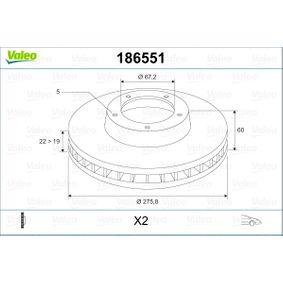 Bremsscheibe Bremsscheibendicke: 22mm, Felge: 5-loch, Ø: 275,8mm mit OEM-Nummer A 638 421 01 12