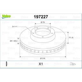 Bremsscheibe Bremsscheibendicke: 28mm, Felge: 5-loch, Ø: 316mm mit OEM-Nummer 3411 1162 093