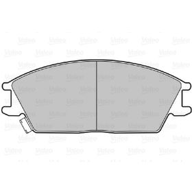 Bremsbelagsatz, Scheibenbremse Breite: 127,5mm, Höhe: 49mm, Dicke/Stärke: 15mm mit OEM-Nummer 581011CA00