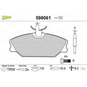 Bremsbelagsatz, Scheibenbremse Breite 1: 130mm, Höhe 1: 55,6mm, Dicke/Stärke 1: 18,5mm mit OEM-Nummer 7701203070