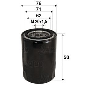 Ölfilter Ø: 76mm, Innendurchmesser 2: 71mm, Innendurchmesser 2: 62mm, Höhe: 50mm mit OEM-Nummer 7701 349 452