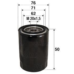 Ölfilter Ø: 76mm, Innendurchmesser 2: 71mm, Innendurchmesser 2: 62mm, Höhe: 50mm mit OEM-Nummer 15208-00Q0F