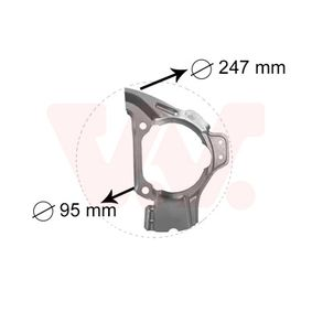 Splash Panel, brake disc 1754371 PUNTO (188) 1.2 16V 80 MY 2006
