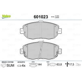 Bremsbelagsatz, Scheibenbremse Breite 1: 144mm, Höhe 1: 63,8mm, Dicke/Stärke 1: 17,5mm mit OEM-Nummer 04465-22311