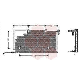 VAN WEZEL Kondensator, Klimaanlage 03005138 für AUDI 100 (44, 44Q, C3) 1.8 ab Baujahr 02.1986, 88 PS