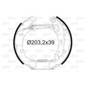Bremsensatz, Trommelbremse mit OEM-Nummer 77 01 20 7179