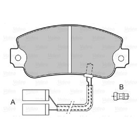 Bremsbelagsatz, Scheibenbremse Breite: 108,9mm, Höhe: 48mm, Dicke/Stärke: 12mm mit OEM-Nummer 5888939