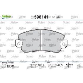 Bremsbelagsatz, Scheibenbremse Breite: 108,9mm, Höhe: 48mm, Dicke/Stärke: 12mm mit OEM-Nummer 791 873