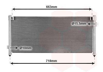 VAN WEZEL  51005044 Kondensator, Klimaanlage