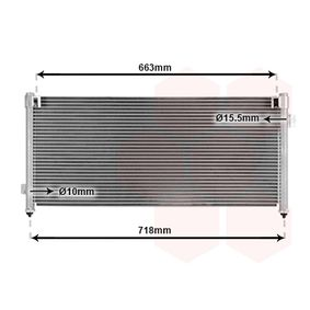 Kondensator, Klimaanlage mit OEM-Nummer 73210-AC050