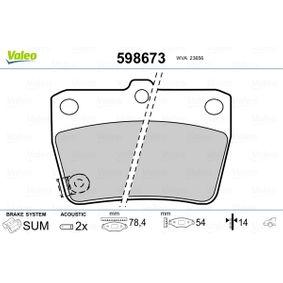 Brake Pad Set, disc brake 598673 RAV 4 II (CLA2_, XA2_, ZCA2_, ACA2_) 2.4 4WD MY 2005