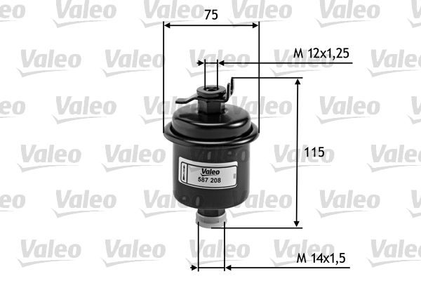 Filtro de Combustible 587208 VALEO 587208 en calidad original