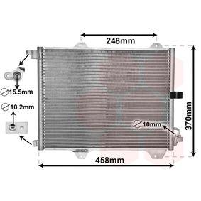 VAN WEZEL  52005088 Kondensator, Klimaanlage Netzmaße: 420x325x16
