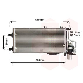 Kondensator, Klimaanlage mit OEM-Nummer 1 850 089