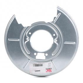 Accesorios y Piezas BMW 3 Coupé (E46) 318 Ci de Año 03.2005 150 CV: Chapa protectora contra salpicaduras, disco de freno (0646373) para de VAN WEZEL
