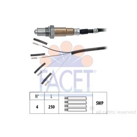 Lambdasonde Kabellänge: 250mm mit OEM-Nummer LF4K-18-861 B
