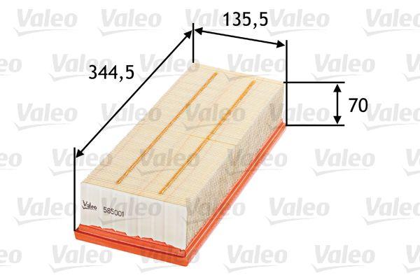 Luftfilter 585001 VALEO 585001 in Original Qualität