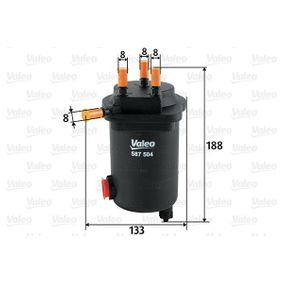 Fuel filter Height: 188mm with OEM Number 16 40 015 40R