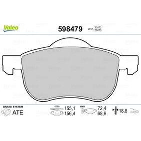 Brake Pad Set, disc brake Width 2 [mm]: 156,4mm, Width: 155,1mm, Height 2: 68,9mm, Height: 72,4mm, Thickness 2: 18,8mm, Thickness: 18,8mm with OEM Number 3126250-6