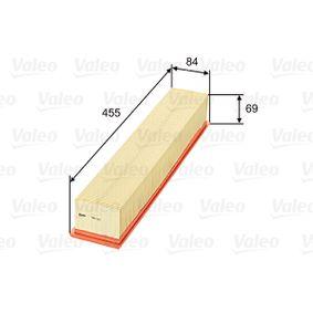 Luftfilter Länge: 455mm, Breite: 84mm, Höhe: 69mm, Länge: 455mm mit OEM-Nummer 1110940204