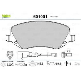 Bremsbelagsatz, Scheibenbremse Breite 1: 146,5mm, Höhe 1: 59,5mm, Dicke/Stärke 1: 19mm mit OEM-Nummer 7 736 227 2