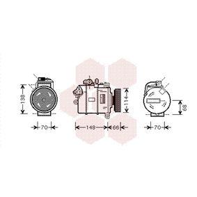 Compresor, aire acondicionado Número de canales: 4 con OEM número 8E0260805AH