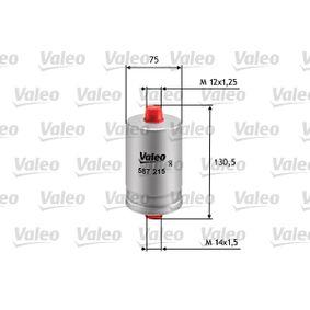 VALEO Kraftstofffilter 587215 für AUDI 80 Avant (8C, B4) 2.0 E 16V ab Baujahr 02.1993, 140 PS