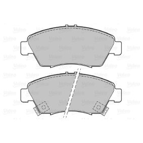 Brake Pad Set, disc brake Width: 136,3mm, Height: 57,8mm, Thickness: 17,3mm with OEM Number 45022TR2A01
