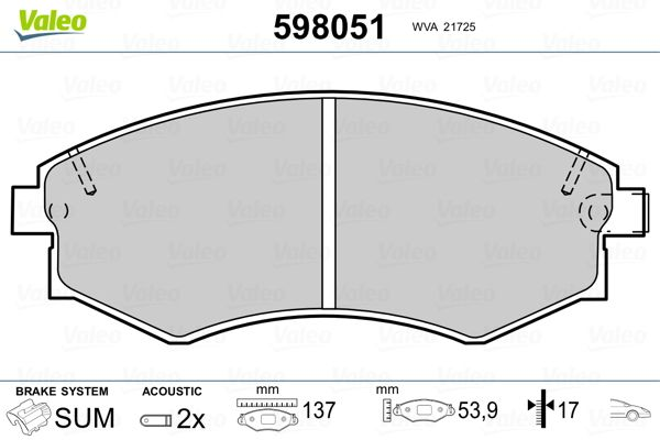 Bremsbelagsatz VALEO 598051 Bewertung
