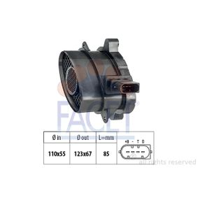 Sistema Eléctrico del Motor BMW X5 (E70) 3.0 d de Año 02.2007 235 CV: Medidor de la masa de aire (10.1005) para de FACET