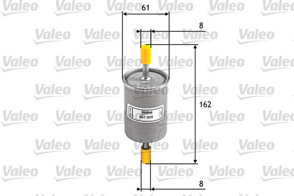 Inline fuel filter 587008 VALEO 587008 original quality