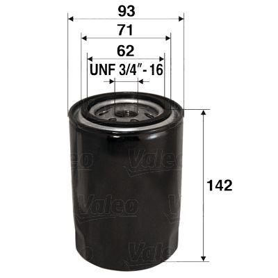 VALEO  586024 Ölfilter Ø: 93mm, Innendurchmesser 2: 71mm, Innendurchmesser 2: 62mm, Höhe: 142mm