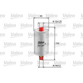 VALEO Kraftstofffilter 587207 für AUDI 90 (89, 89Q, 8A, B3) 2.2 E quattro ab Baujahr 04.1987, 136 PS