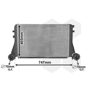 Ladeluftkühler für VW TOURAN (1T1, 1T2) 1.9 TDI 105 PS ab Baujahr 08.2003 VAN WEZEL Ladeluftkühler (58004227) für