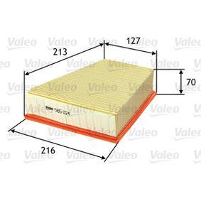 Luftfilter Länge: 213mm, Breite: 216mm, Breite 1: 216mm, Breite 2: 127mm, Höhe: 70mm, Länge: 213mm mit OEM-Nummer 6Q01296620