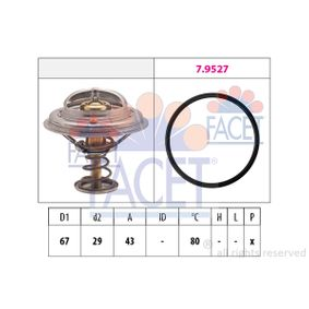 Thermostat, coolant D1: 67mm, D2: 29mm with OEM Number A11 620 00 315
