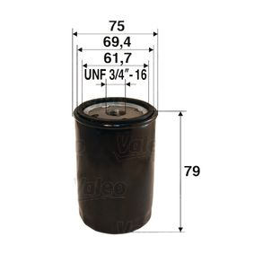 Ölfilter Ø: 75mm, Innendurchmesser 2: 69,4mm, Innendurchmesser 2: 61,7mm, Höhe: 79mm mit OEM-Nummer 01FBO023