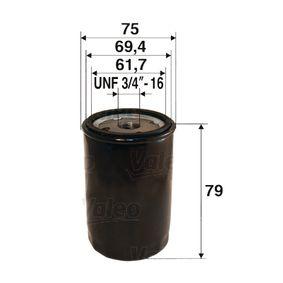 Olajszűrő Ø: 75mm, Belső átmérő 2: 69,4mm, Belső átmérő 2: 61,7mm, Magasság: 79mm a OEM számok 1109-L6