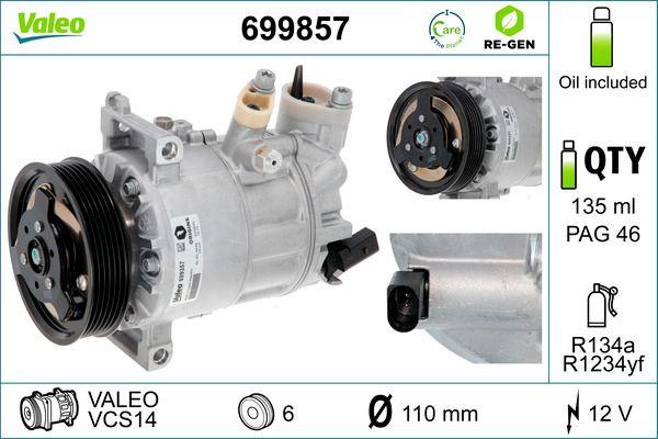 Compresor, aire acondicionado VALEO 699857 evaluación