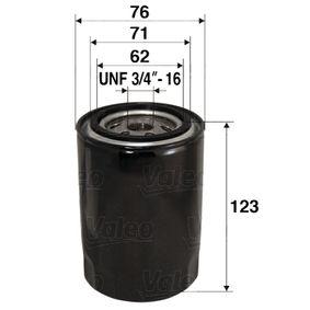 Ölfilter Ø: 76mm, Innendurchmesser 2: 71mm, Innendurchmesser 2: 62mm, Höhe: 123mm mit OEM-Nummer 117434
