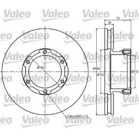 Bremsscheibe Bremsscheibendicke: 30mm, Felge: 6-loch, Ø: 304mm mit OEM-Nummer 669.421.06.12