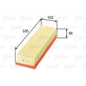 Filtro aria Lunghezza: 335mm, Largh.: 102mm, Alt.: 56mm, Lunghezza: 335mm con OEM Numero 1444-VJ