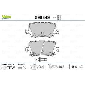 HONDA Civic VIII Hatchback (FN, FK) 1.4 (FK1, FN4) Motorlager VALEO 598849 (1.4 (FK1, FN4) Benzin 2013 L13Z1)