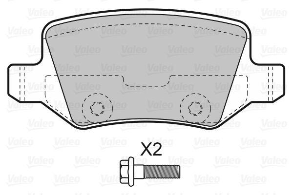 Disk brake pads VALEO 598583 rating