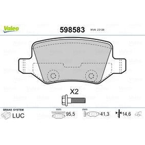 Bremsbelagsatz, Scheibenbremse Breite: 95,5mm, Höhe: 41,3mm, Dicke/Stärke: 14,6mm mit OEM-Nummer A 169 420 17 20