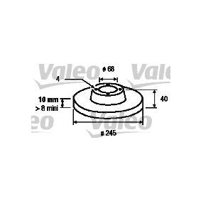 VALEO Bremsscheibe 186292 für AUDI 90 (89, 89Q, 8A, B3) 2.2 E quattro ab Baujahr 04.1987, 136 PS
