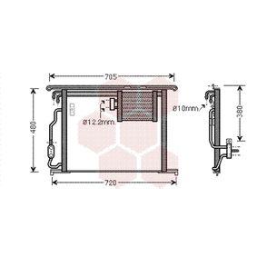 Kondensator, Klimaanlage Netzmaße: 575x480x16 mit OEM-Nummer 220 500 1054