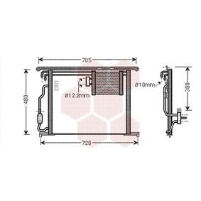 Kondensator, Klimaanlage mit OEM-Nummer A220 500 10 54